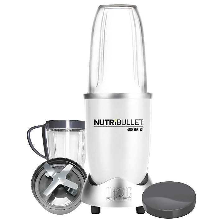 Buy NutriBullet 8 Piece 600 Series Juicer Blender, White Online at johnlewis.com