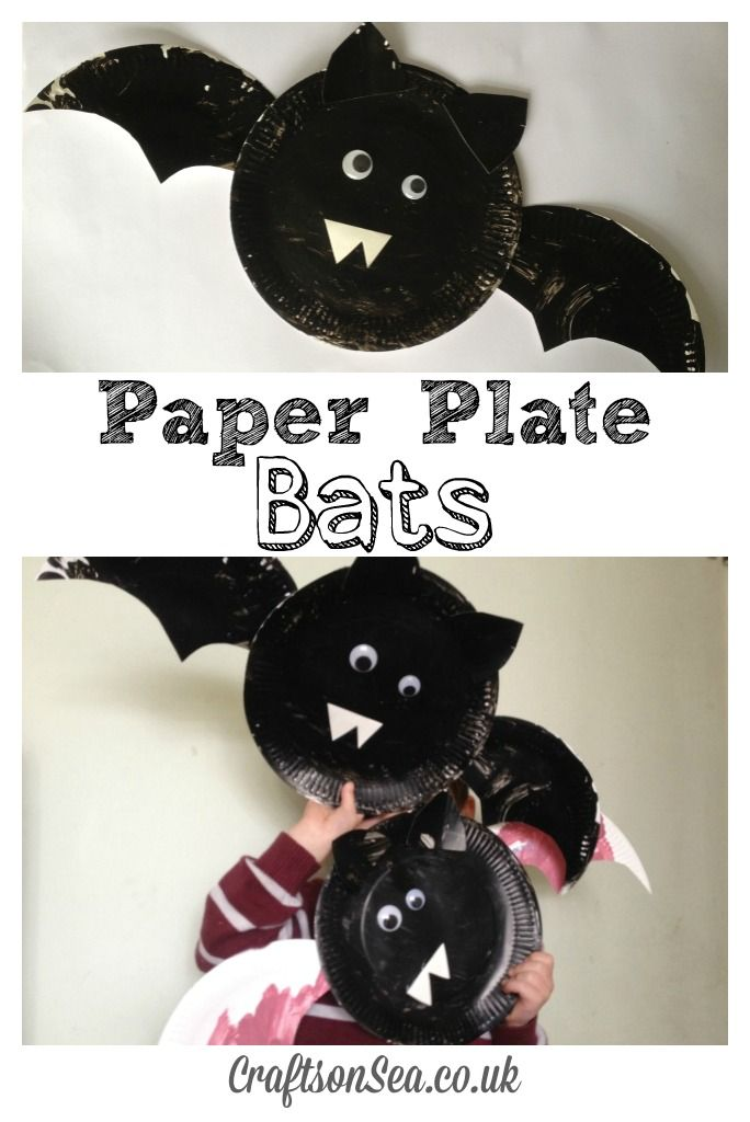 paper plate bats a quick and fun halloween craft for kids - Halloween Bats Crafts