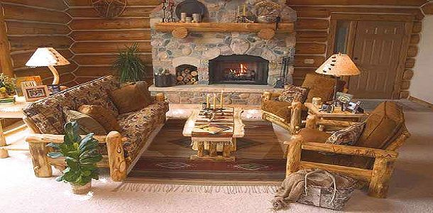 Rustic Living Room Ideas with Wooden Walls