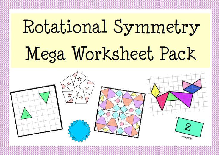 Rotational Symmetry Mega Worksheet & Activity Pack