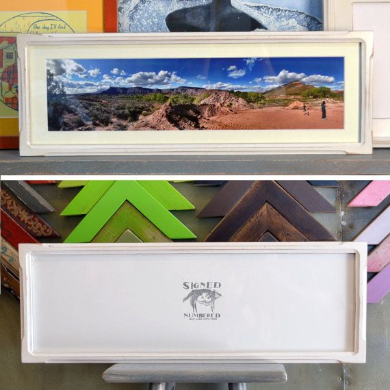 7x22inch panoramic picture frame in deep by signedandnumbered 4620