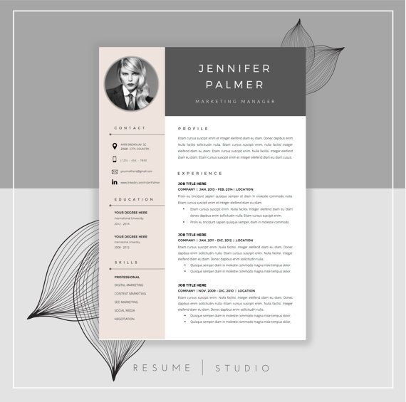 54 Best ☆ Resume Templates For Word + Cover Letter Images On