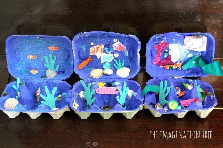 Egg Carton Crafts Egg Carton Ocean Box