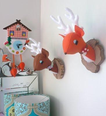 Felt Deer head by cuckoonest