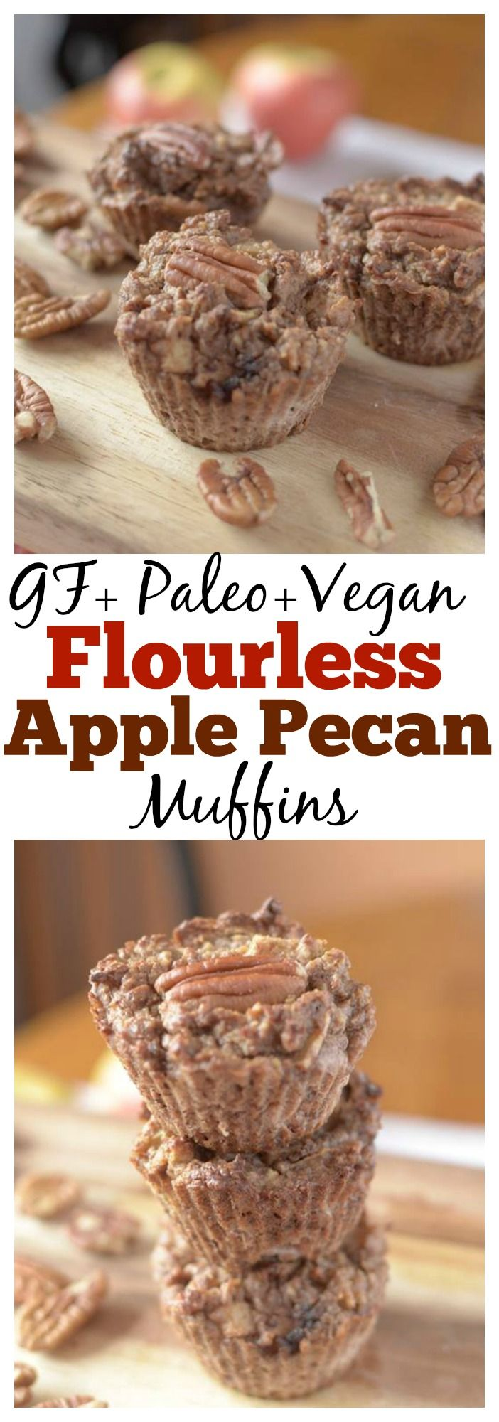 All of you fall-loving people will appreciate these flourless Apple Pecan…