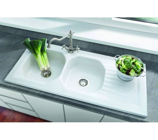 New Ravel Double Bowl Ceramic Sink