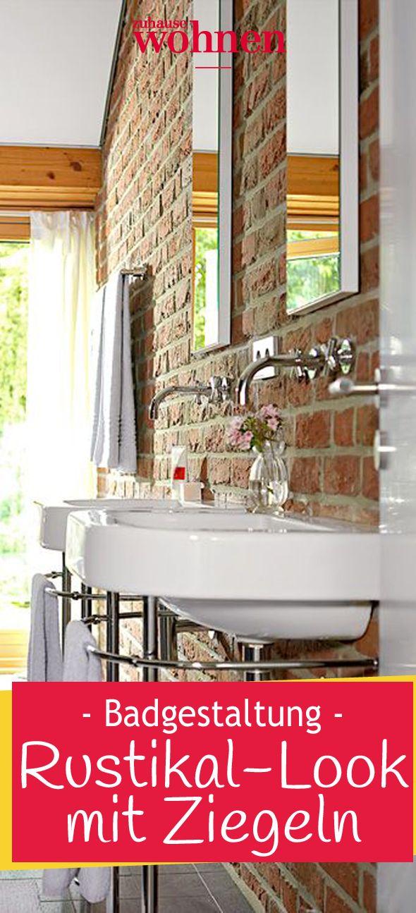 NATURGENUSS In der Wanne badet man mit Aussicht. Die Ziegel vertragen Wasser und…