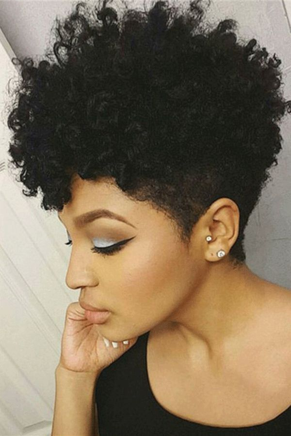 African American Short Afro Curly Human Hair Full Lace Wig 6