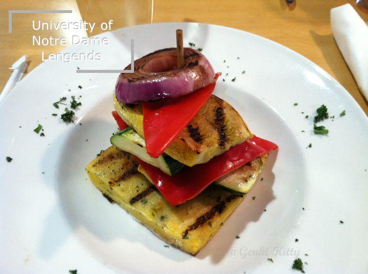 University of Notre Dame Legends Vegan options