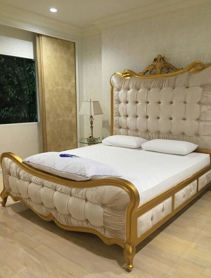 Ivory gold classic bed