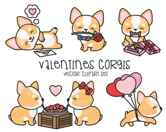 Premium Vector Clipart  Kawaii Valentines by LookLookPrettyPaper