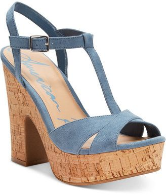 American Rag Jamie T-Strap Platform Dress Sandals, Only at Macy's - $59.50