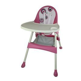 pink high chair for baby (affiliate)