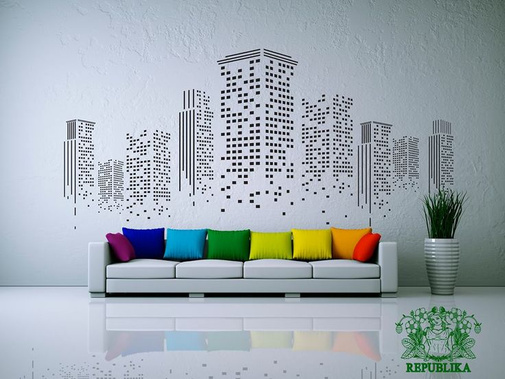 This would be cool made with black and white prints of a city you love.