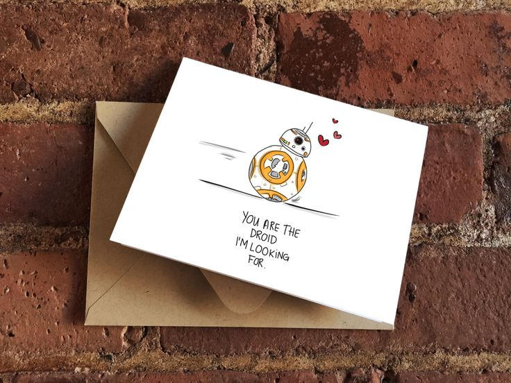You Are the Droid I'm Looking For Valentine // BB 8 Droid Card // Star Wars Valentine Cards // Force Awakens Valentines // BB8 Valentine by konnichiwagrl on Etsy https://www.etsy.com/listing/264454369/you-are-the-droid-im-looking-for