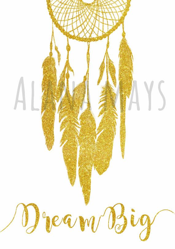Dream Big, dream catcher, inspirational quote, printable wall art, instant download file can be purchased through my online etsy store alana mays creations for $8.00 (A2 size)