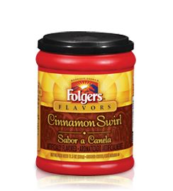 If you're looking to add a touch of soothing spice to the already great taste of Folgers® Coffee, Cinnamon Swirl is the one for you.