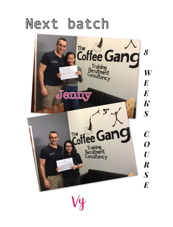 """The next batch of up and coming baristas. Jenny and Vy completed the 8 weeks course and are ready for the barista world. They're part of the GANG. """"Are you part of the GANG yet?"""" #thecoffeegang #8weekscourse #training #baristacoursesydney #coffeeschool #school #coffeeworld #barista #baristaworld #areyoupartofthegangyet #trubarista #courses"""