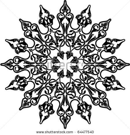 Vector illustration of Arabic circle ornament by Malysh Falko, via Shutterstock