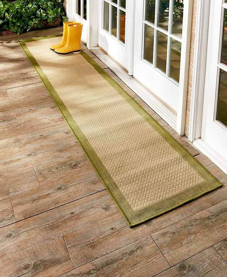 With A Stylish, Textured Pattern And Classic Colored Border, This Indoor/ Outdoor Border Runner Rug Does More Than Protect High Traffic Areas In Your  Home.