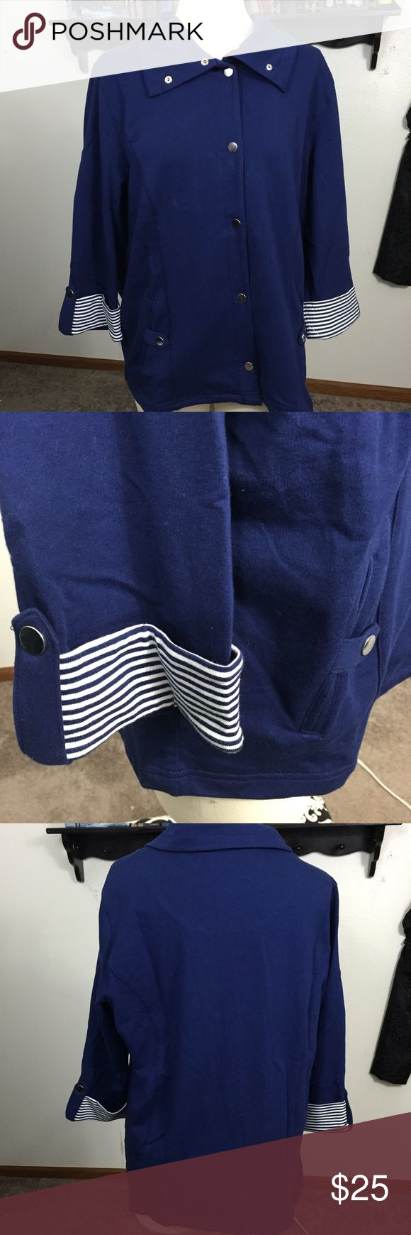 """🎁Navy Blue """"At Sea"""" Jacket/Cardigan Used a few times.  In great condition.  May have minor wear. Karen Scott Jackets & Coats"""