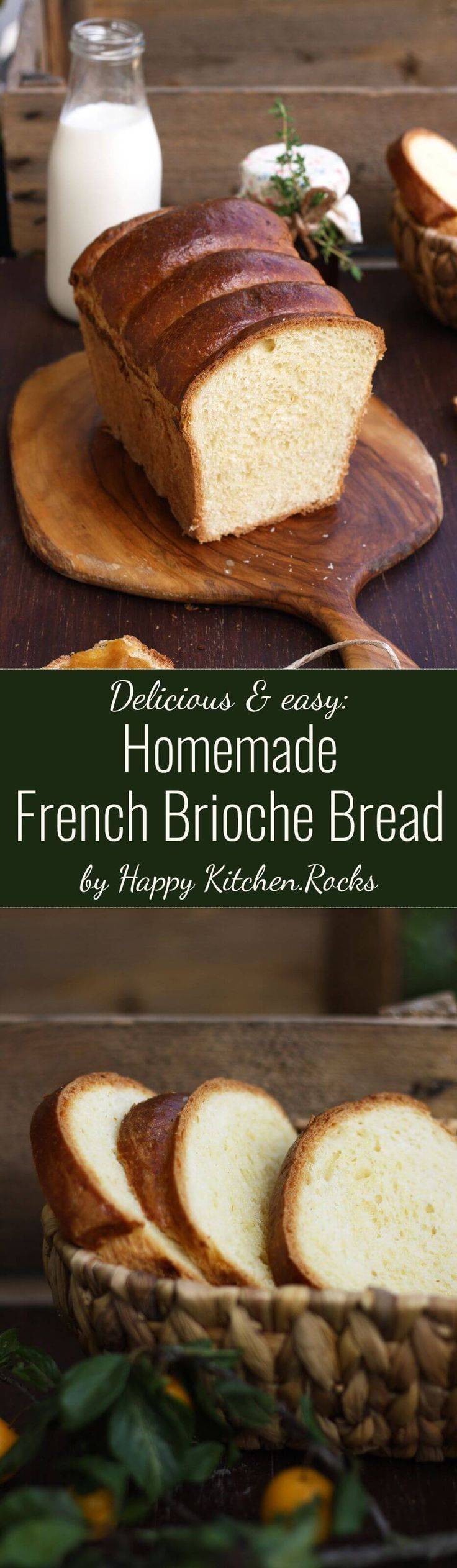 This easy 7-ingredient homemade French brioche bread recipe makes a puffy, tender and delicious loaf, perfect for breakfast or brunch, topped with your favorite jam!