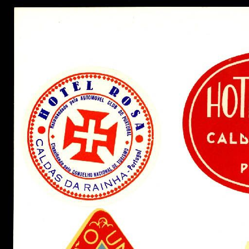 Hotel da Copa, Pensao Central, Hotel Rosa, Grande Hotel da Bela Vista, Grande Hotel de Caldelas, Hotel Central, Pensao Universal, Larbelo-Pensao, Pensao Infantes de Sagres, Pensao Rivoli, Pensao Rosa, Residencia Domus, Pensao Restaurante da Várzea, Restaurante Lusitano :: Etiquetes d'hotels (Biblioteca de Catalunya)