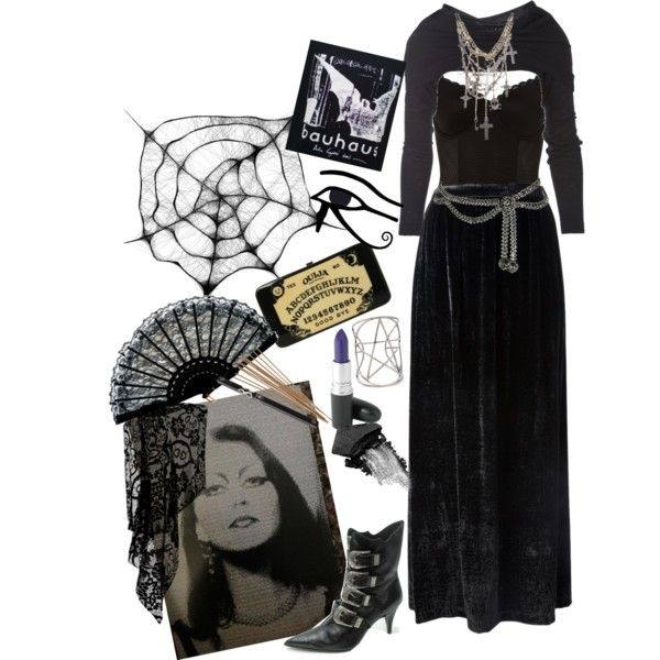 """""""From beyond the smoke"""" by morbid-octobur on Polyvore #goth #gothic #gothstyle…"""