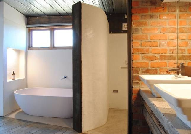 Master en-suite, complete with stone bath | Malibu on the Beach - oceanfront retreat in Four Mile Creek, Tasmania