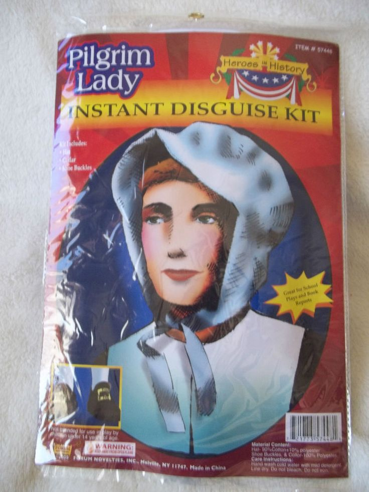 Pilgrim Kit Thanksgiving Pilgrim Lady  Heroes of History Instant Disguise #FORUM