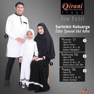 Baju Sarimbit Keluarga Qirani Mawar 51 - Special Idul Adha