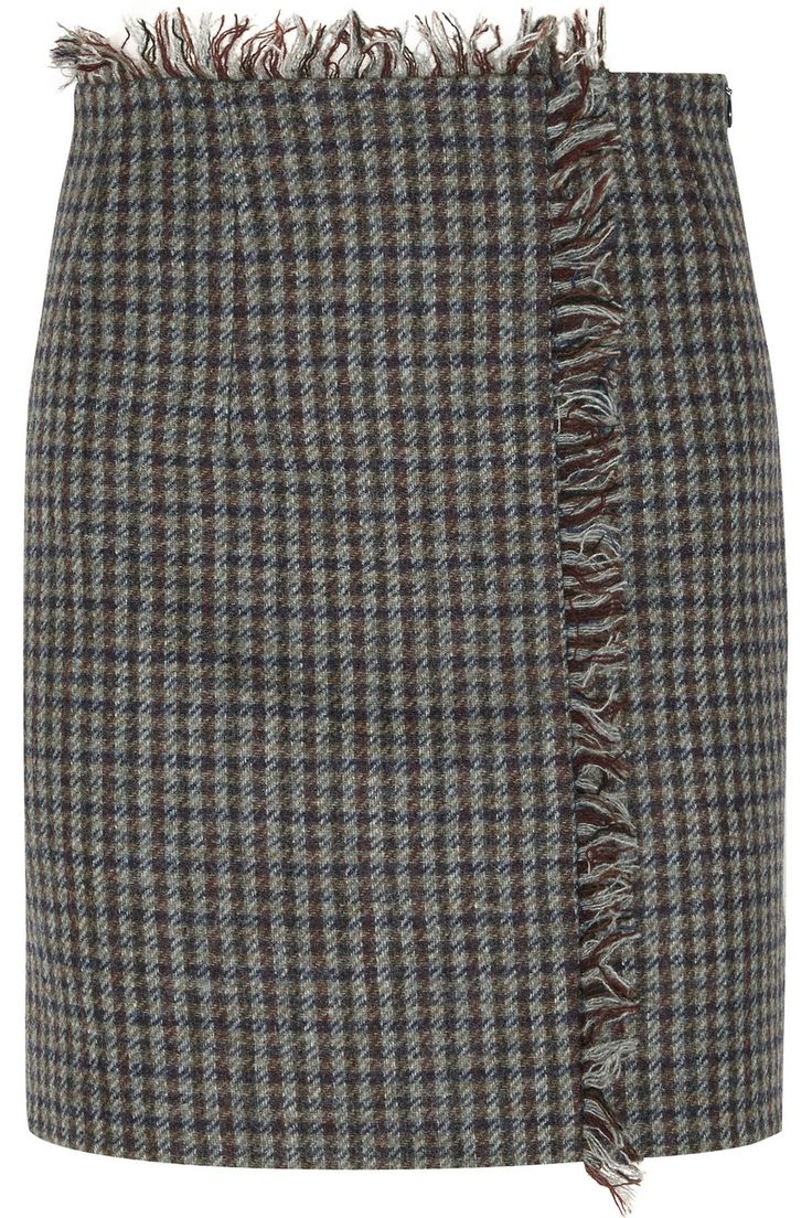 Acne Studios | Checked wool-tweed mini skirt | NET-A-PORTER.COM