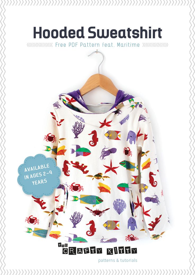 Sewing Tutorial and Free PDF Pattern | Hooded Sweatshirt by...