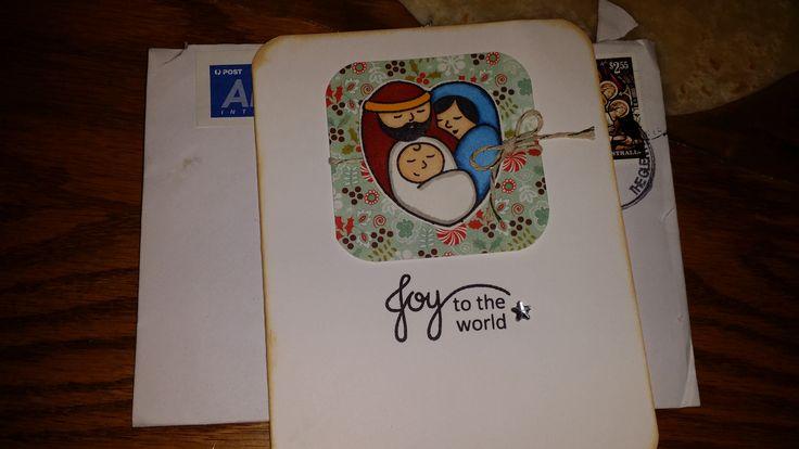 A handmade Christmas Card from a friend in Australia.