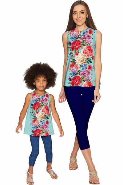 Amour Emily Sleeveless Dressy Top - Mommy & Me - Pineapple - Mommy and Me Clothing