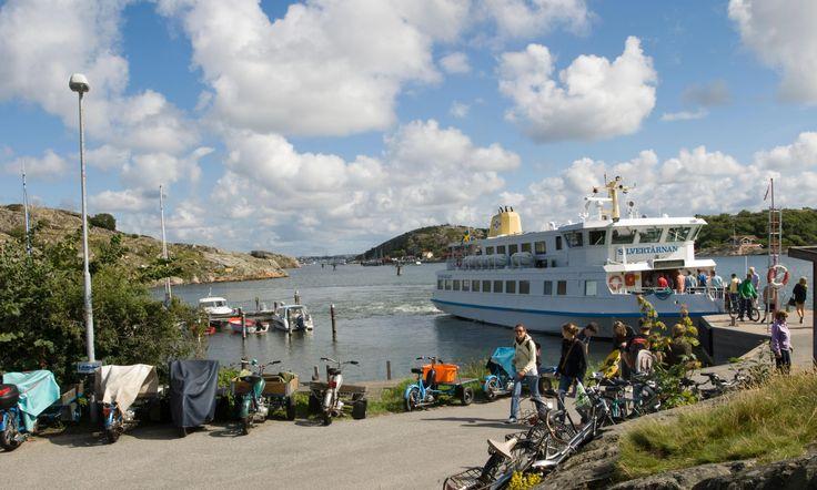 Ferry arrival at the island Brännö, Gothenburg archipelago. │ theguardian.com