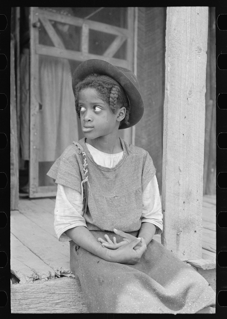 Daughter of sharecropper, New Madrid County, Missouri. 1938 May. Library of Congress.