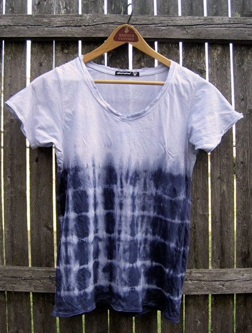 I love this tie dye t-shirt! Could reverse tie dye with bleach as well.