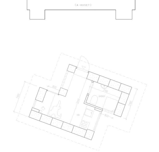 Straw-bale house #1's plan / Planritning Halmhus #1