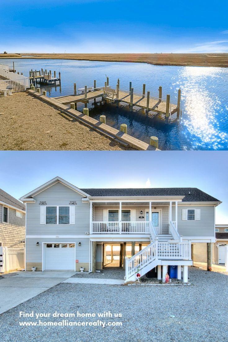 Family Vacation Home For Sale In The Lagoon Jersey Shore Vacation Home Waterfront Homes Waterfront Homes For Sale
