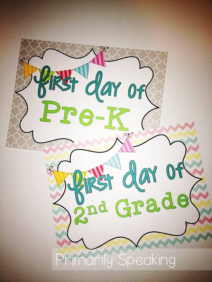 First Day of school free printable
