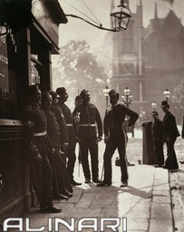 """""""Street life in London"""": recruiting sergeants at Westminster"""
