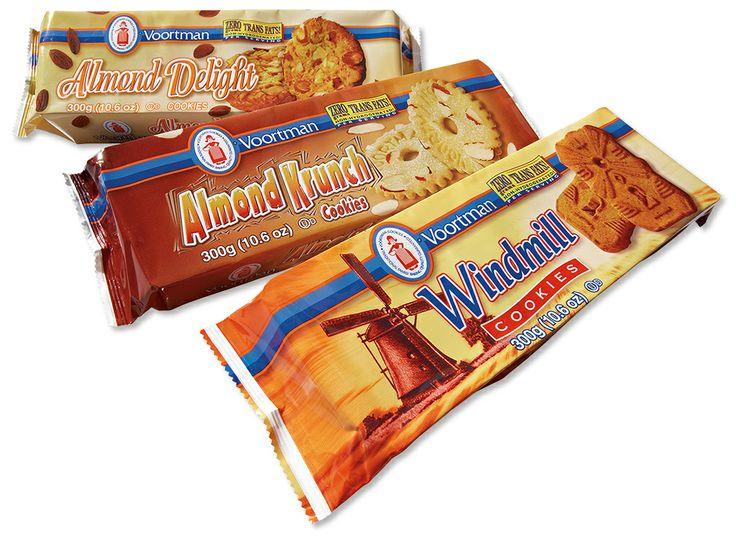 Windmill Cookies, Almond Krunch Cookies and Almond Delight Cookies - Voortman Cookies Classic Packs trio