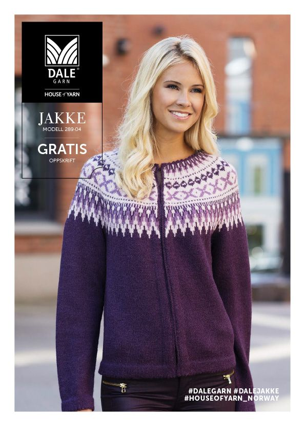 #DaleGarn Free download pattern Retro jakke nr. 289-04