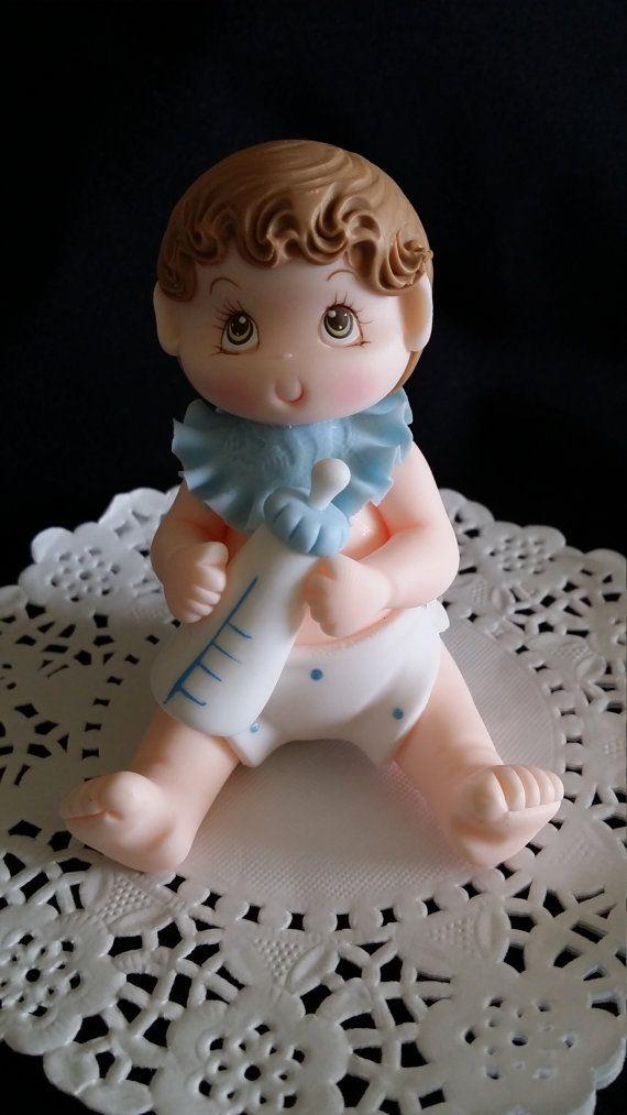 Bebé ducha torta gemelos bebé adorno de torta torta de bebé