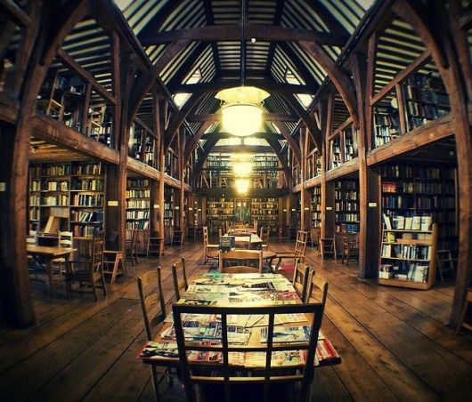 British boarding school library.  This and Hogwarts make me wish I went to boarding school.