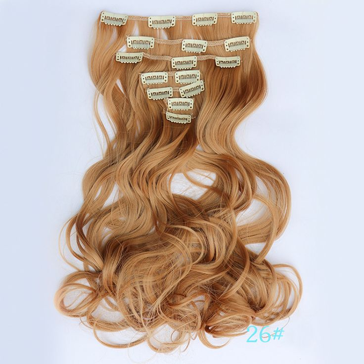 Women 7 Pieces Curly Clip Hair Extension,55cm long Hair Weft
