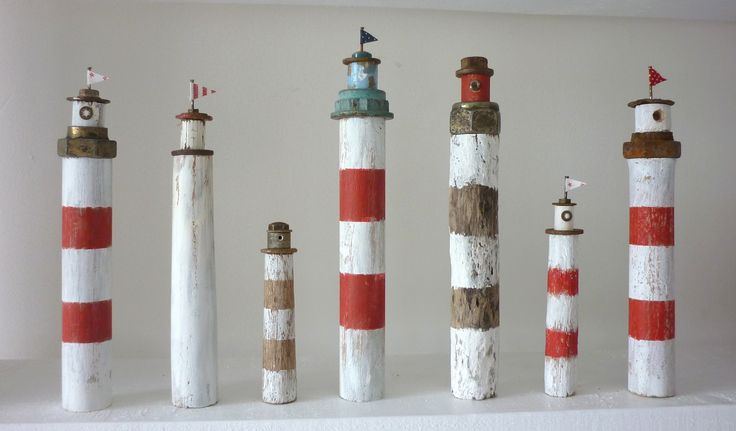 Driftwood lighthouses