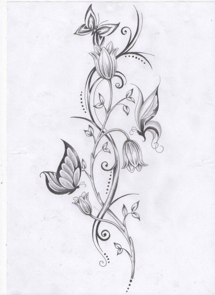 best 20 flower vine tattoos ideas on pinterest. Black Bedroom Furniture Sets. Home Design Ideas