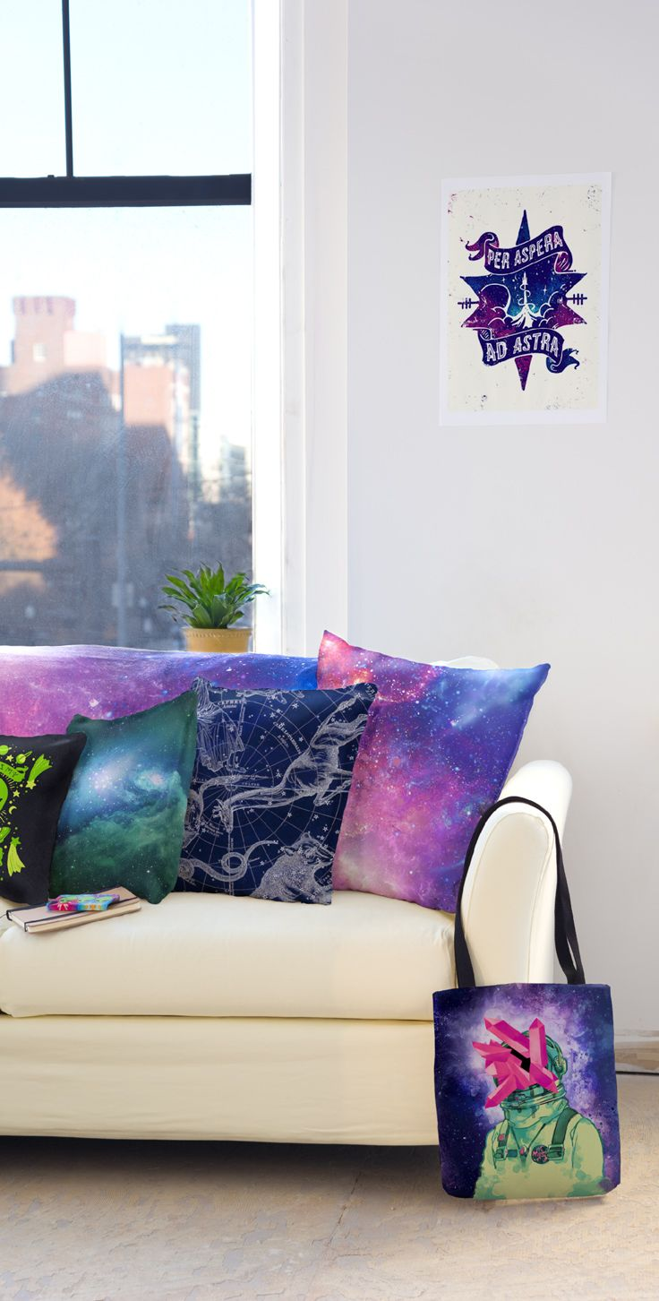 I think I'll just cozy up and think about space for the weekend with these adorable pillows!
